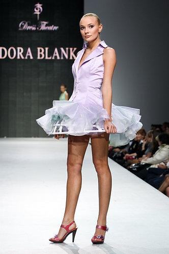 Costume for bridesmaids. Silk with cotton, organza
