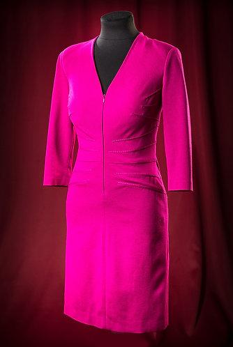 Платье из джерси с защипами по фигуре. DressTheatre Couture
