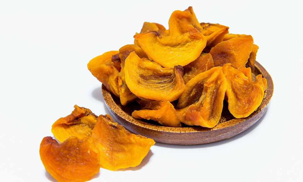 Dried persimmon with chocolate