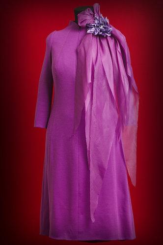 Платье из шерсти фуксия  DressTheatre Couture by Dora Blank