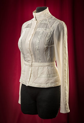 Blouse made of silk muslin with removable bass DressTheatre Couture