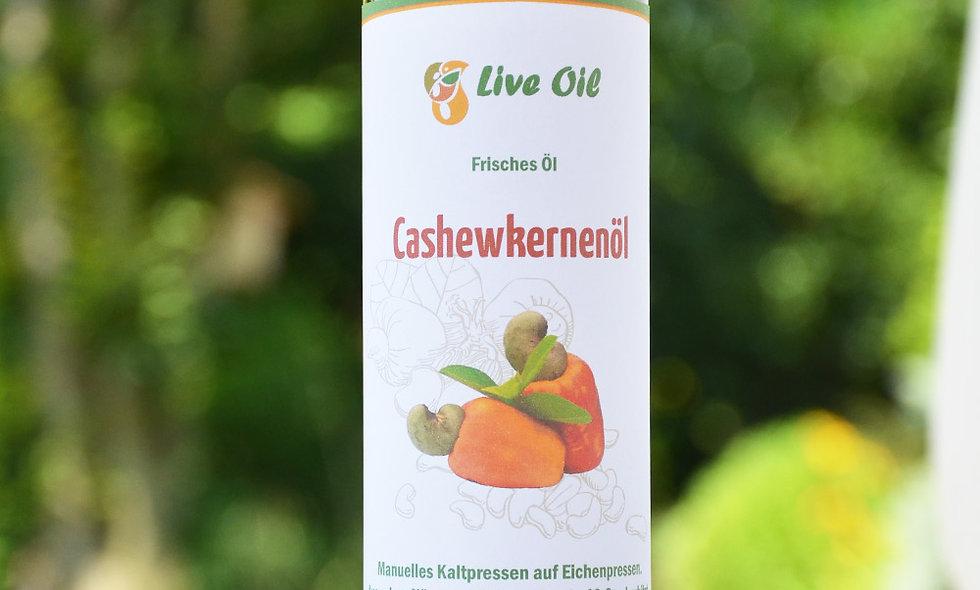 100% cashew oil. Live Swiss. Squeezed on the oak press.