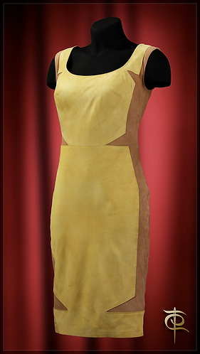 Dress made of suede. DressTheatre Couture by Dora Blank