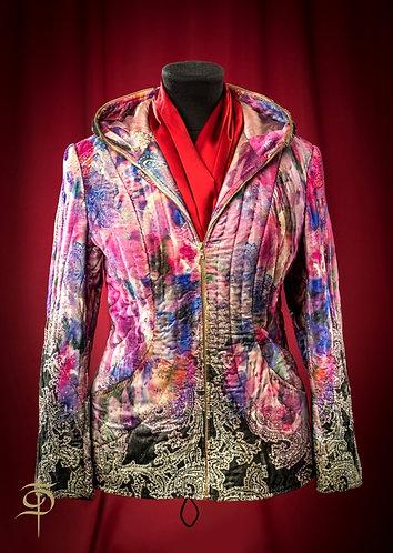 Стеганая куртка на молнии с подкладом из шелка DressTheatre Couture