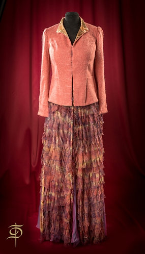 Long skirt with chiffon decor DressTheatre Couture