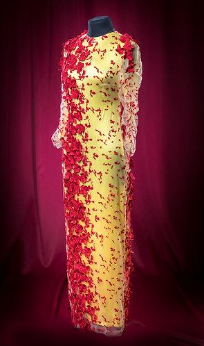 Платье кружевное JoseMariaRuiz с росшивом на сетке.  DressTheatre Couture