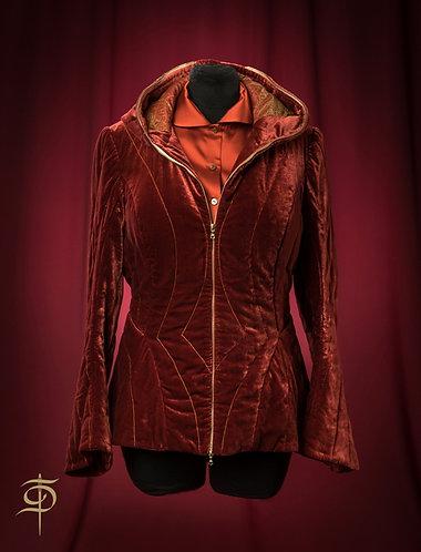 Куртка из бархата стаганая на молнии DressTheatre Couture by Dora Blank