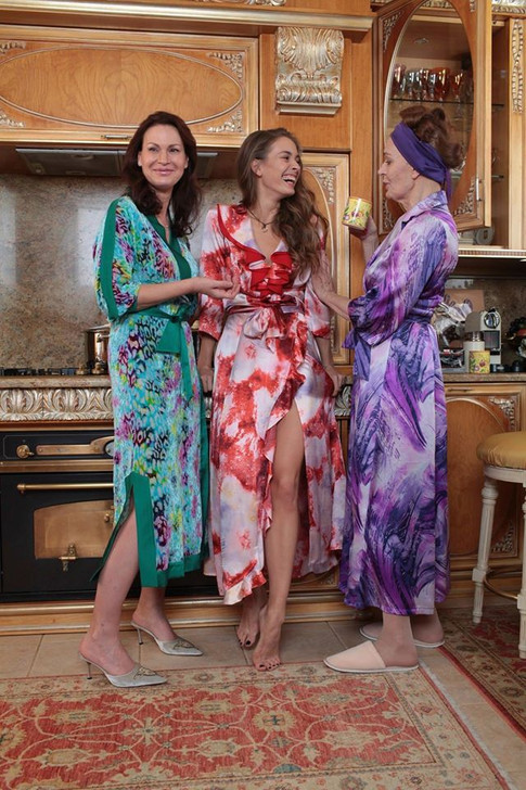 A smart dressing-gown. Did our husbands deserve to see us always looking beautiful?