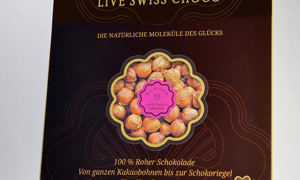 Bio-Schokolade mit  ganzer Haselnuss