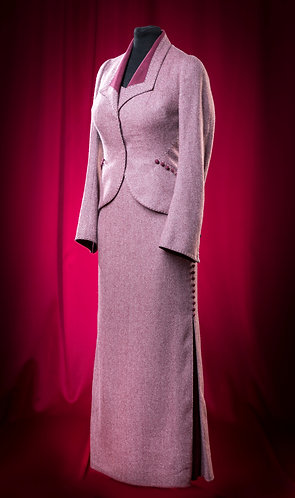 Костюм из шерсти Holland&Sherry: платье и жакет. DressTheatre Couture