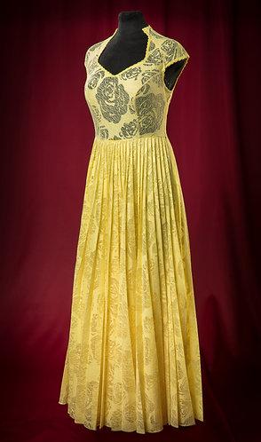 Платье из гофрированного шелкового кружева.  DressTheatre Couture by Dora Blank