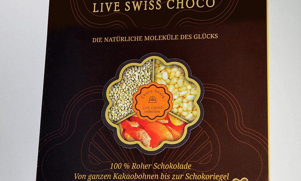 Bio-Schoko-Snack mit Zedern, Aprikose und Chia