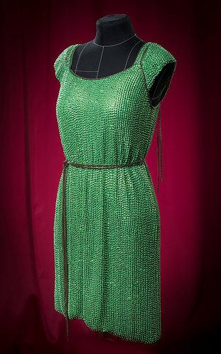 Платье из паеток с отделкой цепями. DressTheatre Couture by Dora Blank