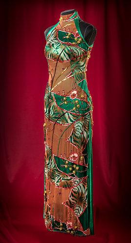 Платье шелковое с паетками. DressTheatre Couture by Dora Blank