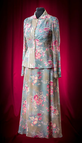 Suit made of chiffon: sundress and blouse DressTheatre Couture by Dora Blank