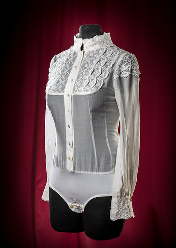 Body blouse made of silk muslin with lace DressTheatre Couture