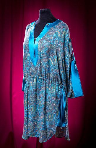 Tunica dress made of viscose with satin silk decor DressTheatre Couture