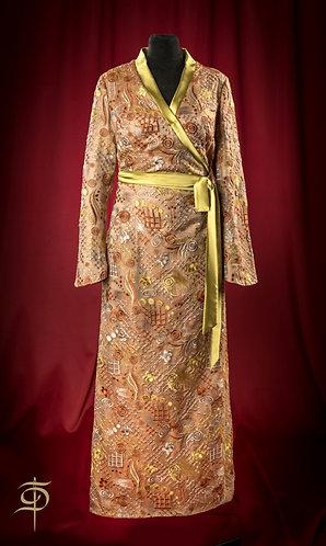 Home cape with silk decor DressTheatre Couture