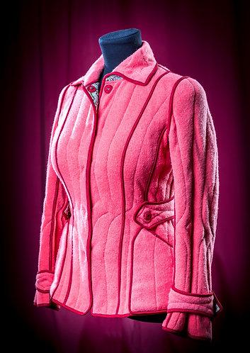 Телогрейка розовая из кашемира и шелка двусторонняя. DressTheatre Couture