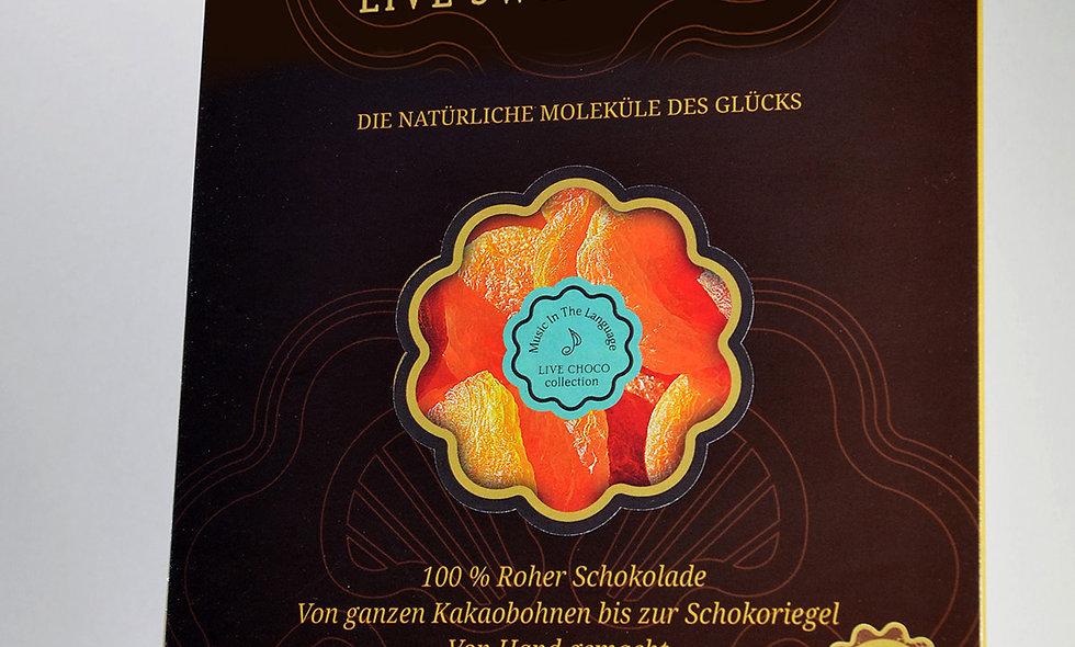 Bio-Schokolade mit Aprikose