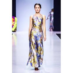 Вечернее платье-комбез из новой коллекции Доры Бланк DoraLife. Ткань - шёлковая сеткиа с пайетками #