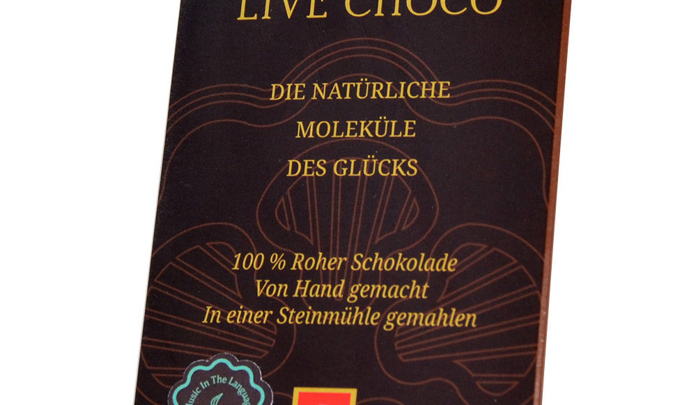 Bio-Schokolade mit kandiertem Ingwer