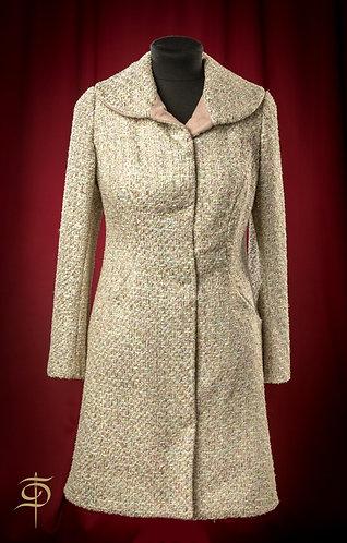 Пальто пестрое с отделкой замшей DressTheatre Couture by Dora Blank