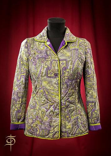 Телогрейка двусторонняя стеганая из шелка на кнопках DressTheatre Couture