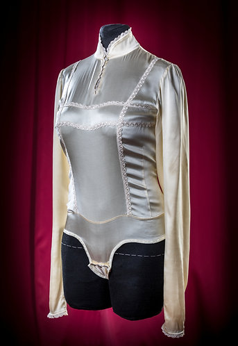Body blouse made of satin silk with lace DressTheatre Couture