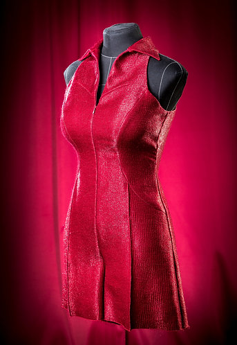 Комбинезон красный на молнии.  DressTheatre Couture by Dora Blank