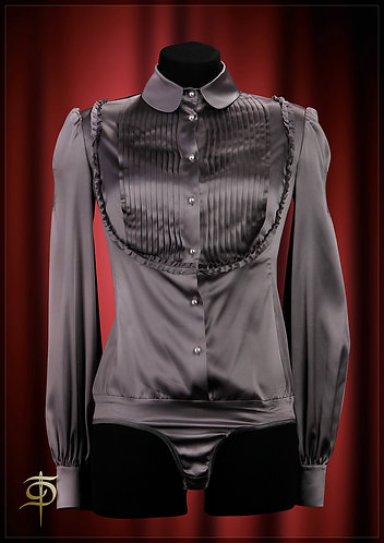 Body blouse made of satin silk with folds. DressTheatrе Couture
