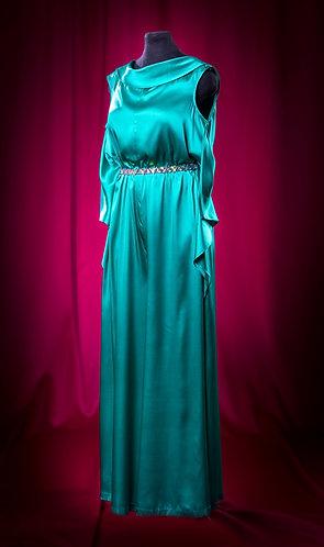 Комбинезон шелковый с поясом Swarowski. DressTheatre Couture by Dora Blank