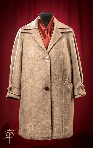 Пальто бежевое из кашемира DressTheatre Couture by Dora Blank