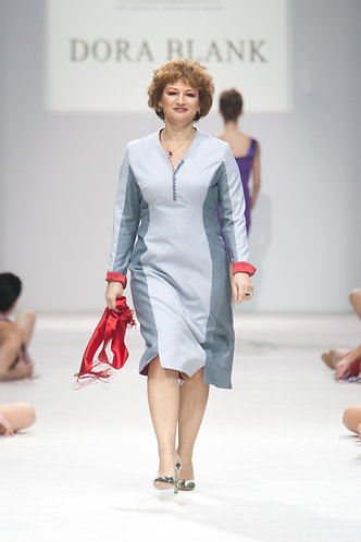 Dress from Holland & Sherry wool. DressTheatre Couture