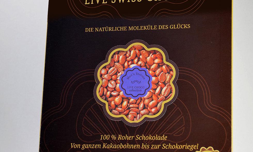 Bio-Schokolade mit Kaffeebohnen