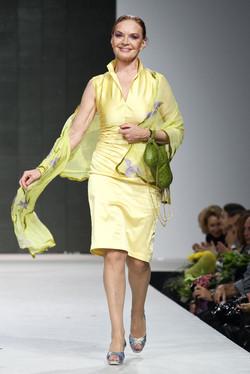Коктельное платье из тафты.