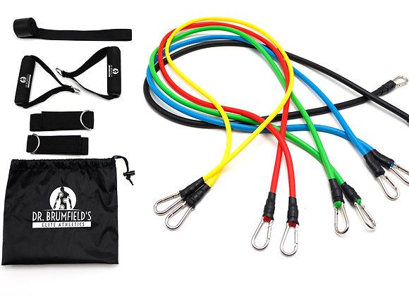 Dr. Brumfield's Elite Athletics 11 Pcs. Resistance Band Kits