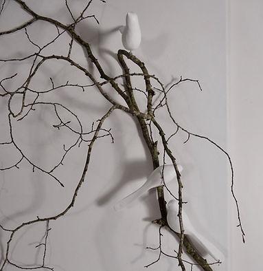 Branche avec oiseau déco