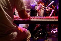 Piano low angle shot