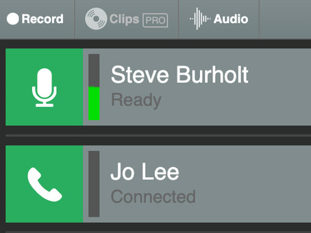 Remote interview recording with Cleanfeed