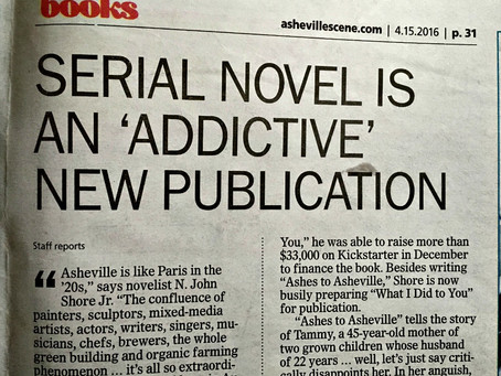 That time I wrote the first serial novel ever published on the website of a major city newspaper
