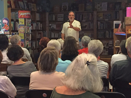 Me, doing the Bookstore Reading thing at Malaprop's in Asheville
