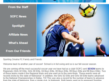 Sporting Omaha FC Newsletter