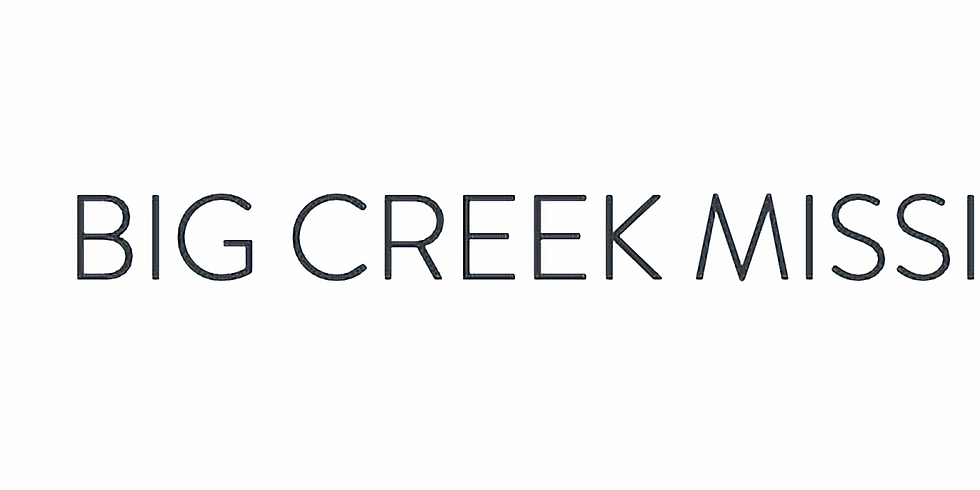 Big Creek Mission Trip