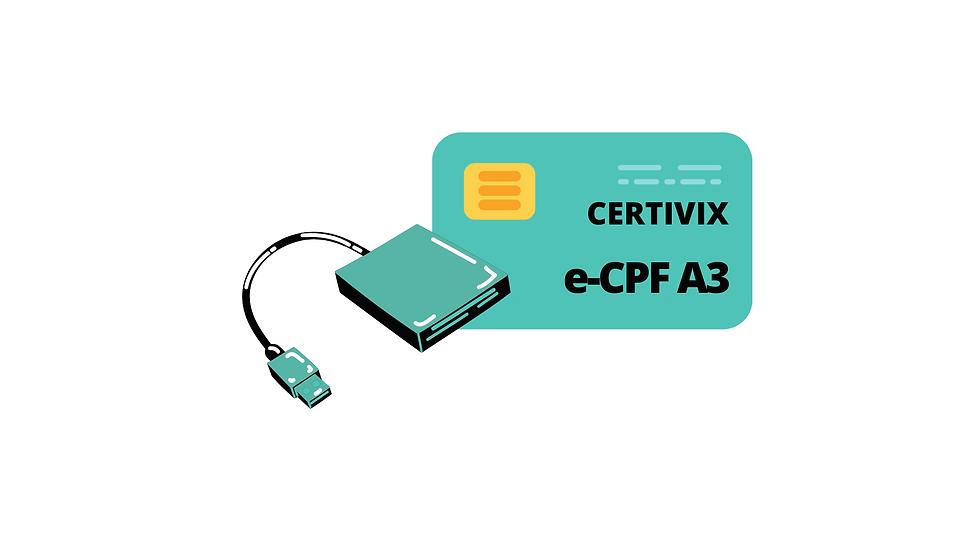 e-CPF A3 CARTÃO + LEITORA