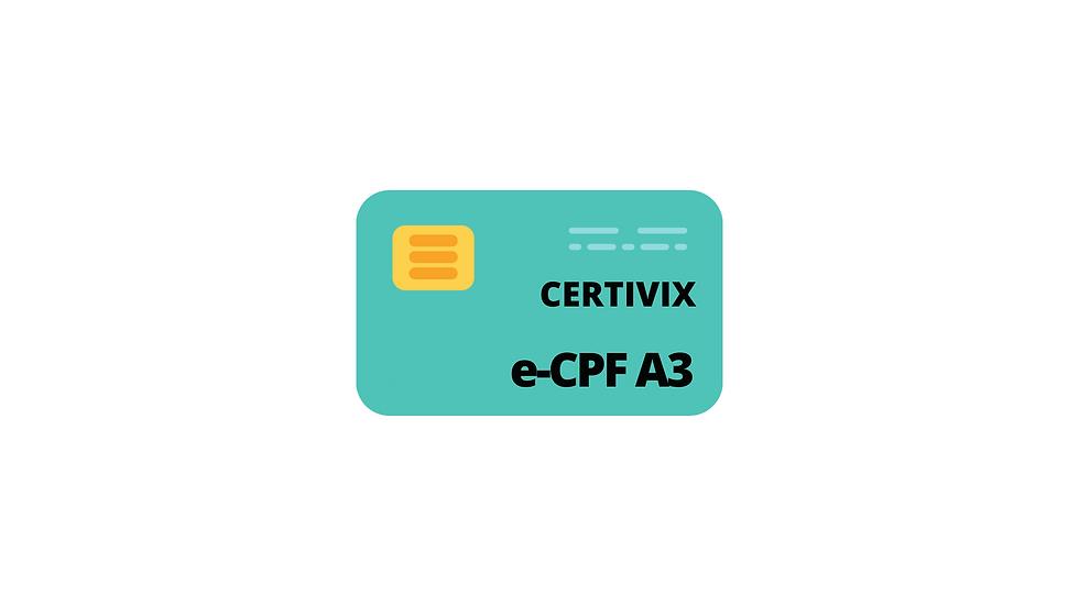 e-CPF A3 com CARTÃO