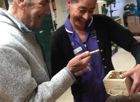 Northbourne Court Care Home- 'Make a Bee Hotel' Workshop