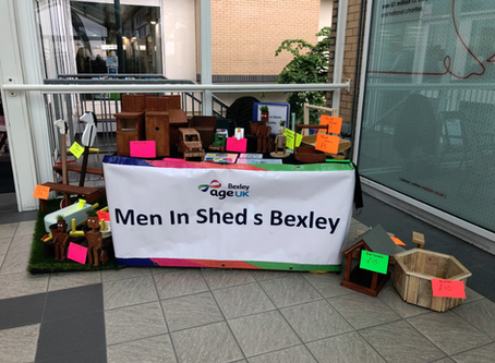 Men in Sheds at Erith Market!