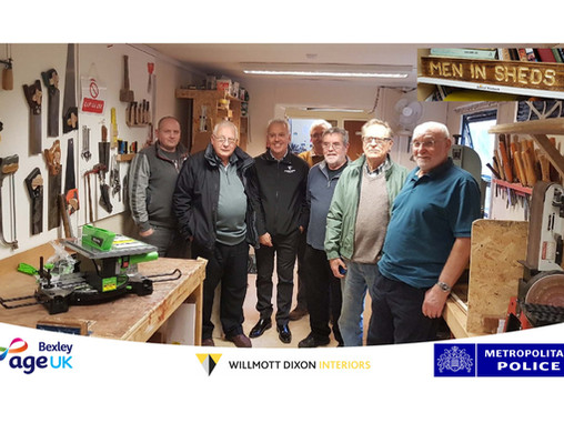 Willmott Dixon Interiors donation to the Shed!