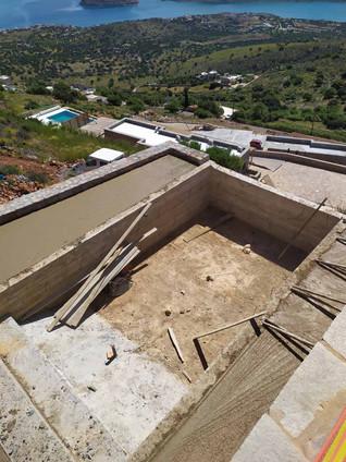 Pool Construction Luxury Villa Havgas Elounda Crete